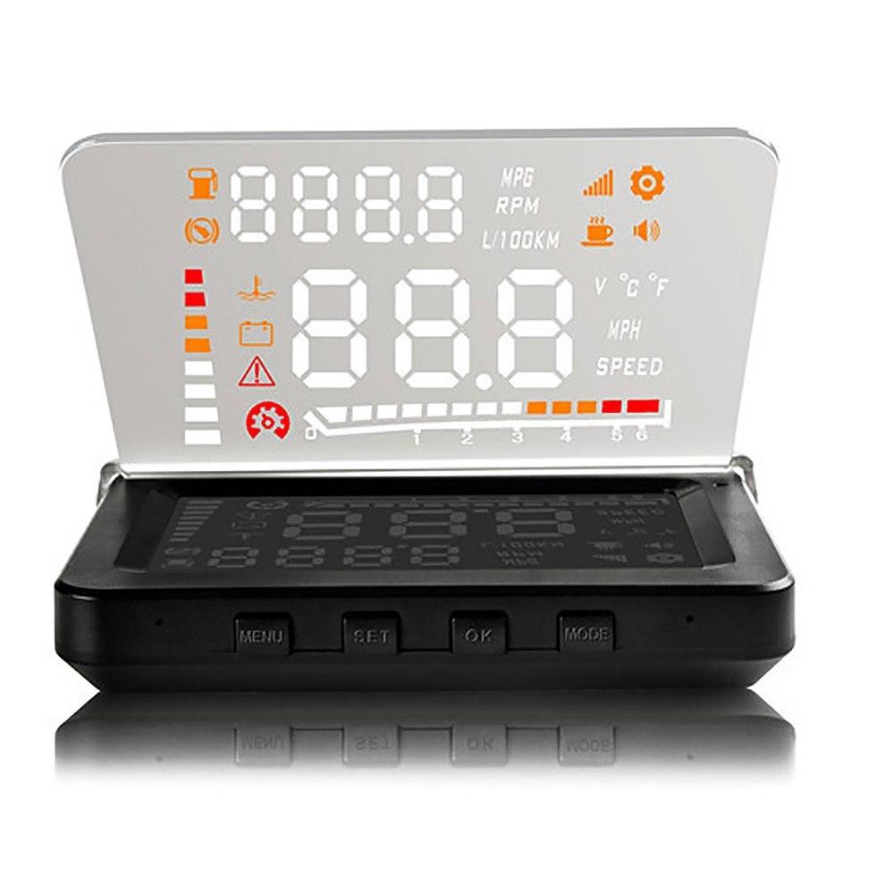 imágenes para Universal de 4 Pulgadas Del Coche HUD Head Up Display OBD II Alarma de Falla del motor Código De Eliminación de Fallos de Alta Temperatura de Alarma de Velocidad alarma