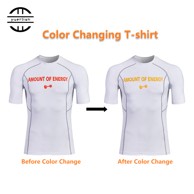 Temperature Change Color T Shirt Running T Shirts Quick Dry