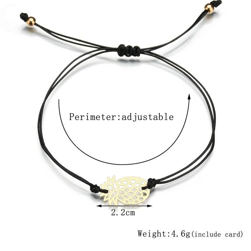 Bohemian Fruit Pineapple Bracelets Bangle For Women Men Handmade Rope Bracelet Best Friend Jewelry in Chain Link Bracelets from Jewelry Accessories