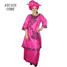 Африканские платья для женщин Новая мода дизайн Африканский Базен RICHE вышивка длинный рэпер африканская одежда SP18