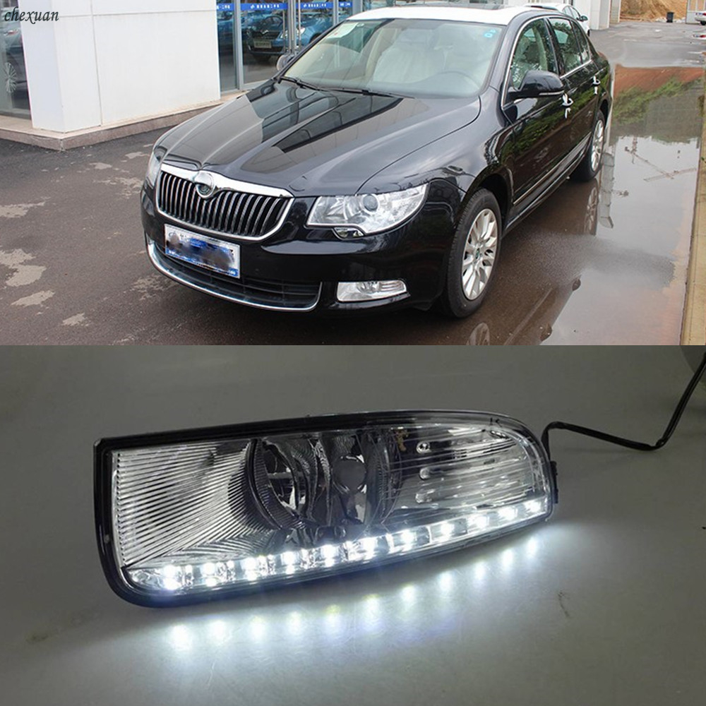 CSCSNL 1 set 12V ABS LED DRL Daytime Running Lights Fog Lamp Cover Car styling For