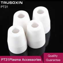 Plasma accessories 20 pcs cutter consumables porcelain shiled cups for  inverter plasma cutter torch PT31 very useful pt31