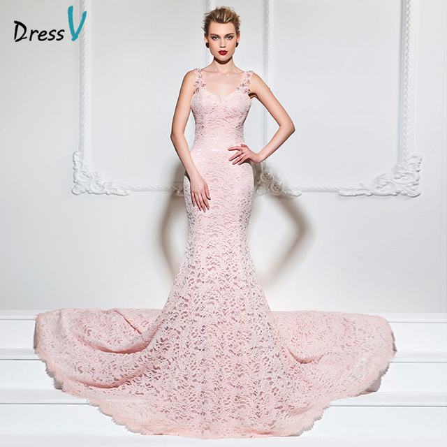 Dressv rosa della sirena elegante abito da sera lungo maniche zipper up  cinghia di spaghetti della ... 5a3a4e33ad7