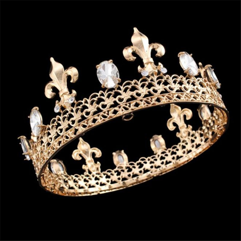 Vintage Queen King tiara Crown Bridal Hair Jewelry Wedding Tiaras Crowns Headdress Women Birthday Gifts Bride Hair accessories