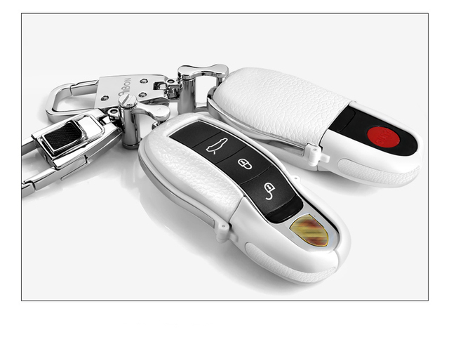 White Car Remote Key Case Cover Bag For Porsche Cayman 911 Panamera