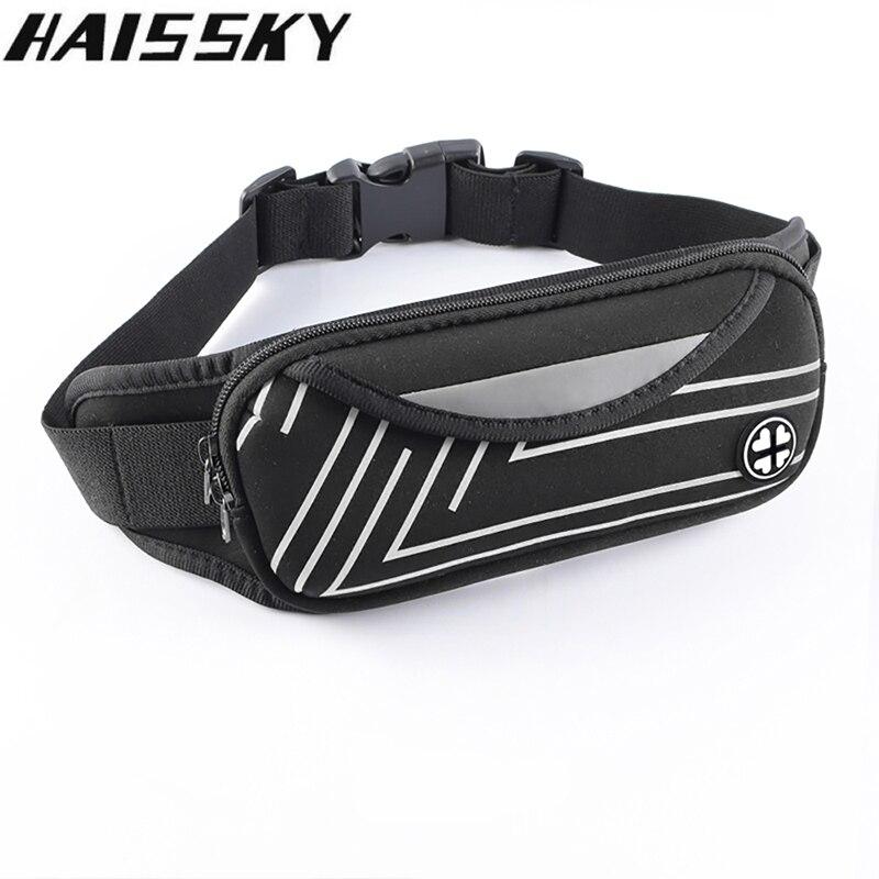 Haissky Running Waist Bag Sport Waist Pack Waterproof Phone Holder Gym Fitness Belt Pouch For iPhone Xiaomi Outdoor Accessories