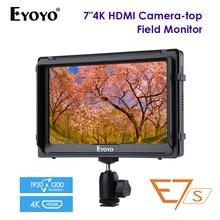 E7S 7 Inch SDI 4K HDMI DSLR Camera Field Monitor Ultra Bright Full HD 1920x1200 LCD IPS FW279S for Canon Nikon Sony BMPCC 5DIV цена