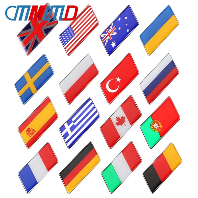 1 pçs 3d epóxi liga de alumínio rússia país bandeiras nacionais emblema adesivo estilo do carro da motocicleta bagagem emblema decalque acessórios