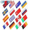 1 шт. 3D эпоксидный алюминиевый сплав, российские государственные флаги стран, фотостайлинг, мотоцикл, багаж, значок, наклейка, аксессуары