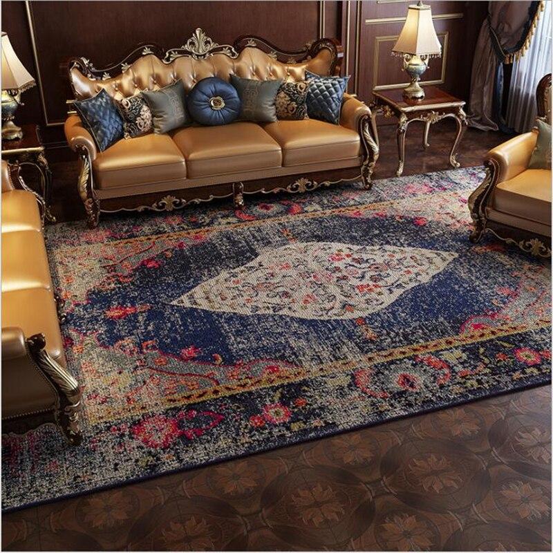 AOVOLL tapis chambre Style ethnique américain pays rétro lumière luxe tapis pour salon tapis nordique chambre tapis et tapis - 3