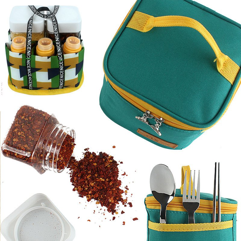 Image 5 - VILEAD Outdoor Camping Tableware Storage Container Spice Jar Seasoning Box Portable Oil Bottle For Picnic Outdoor BBQ Camping-in Camping Cookware from Sports & Entertainment