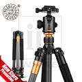Original Hot Beike QZSD Q999C Professional Photographic Portable Carbon Fiber Tripod Kit Monopod Stand Ball head For DSLR Camera