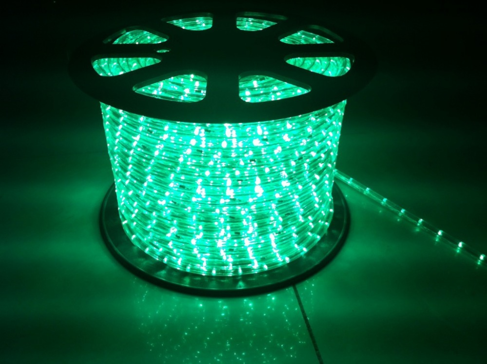 Led Hose Light Outdoor Warmwhite Led Decorative Rope Light 2 Wires 100m/Roll Round Led Rope ...