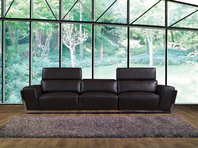 Della mucca del cuoio genuino divano set mobili soggiorno couch ...