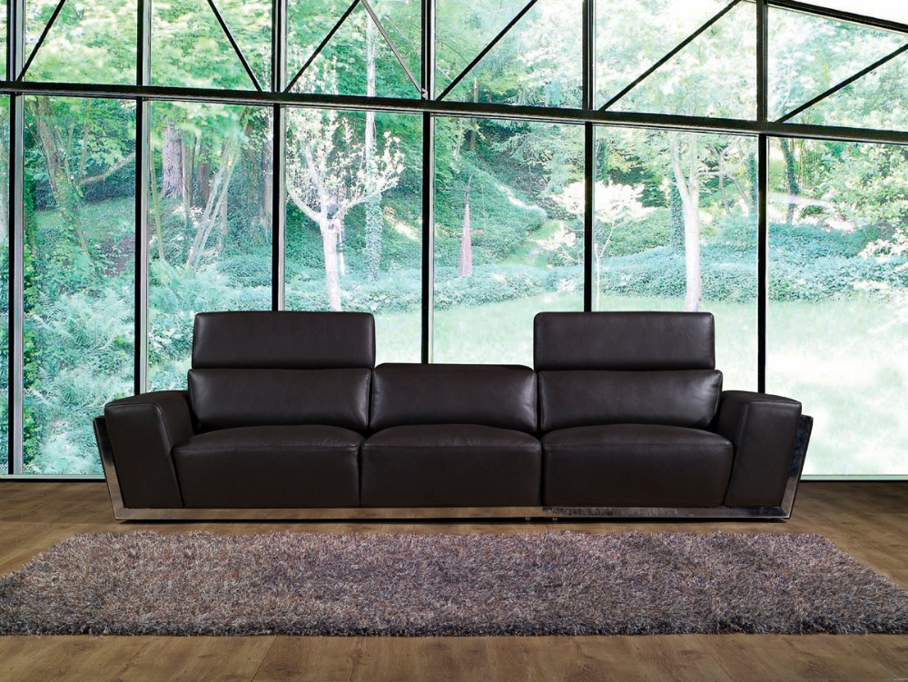 Cow genuine leather sofa set living room furniture couch for Leather sofa set