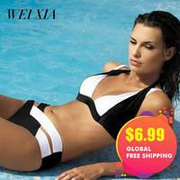 Christmas Gift WEIXIA 2017 Hot Sale Swimwear Brazilian Women Swimsuit Top Bikini Set Two Piece Bikini
