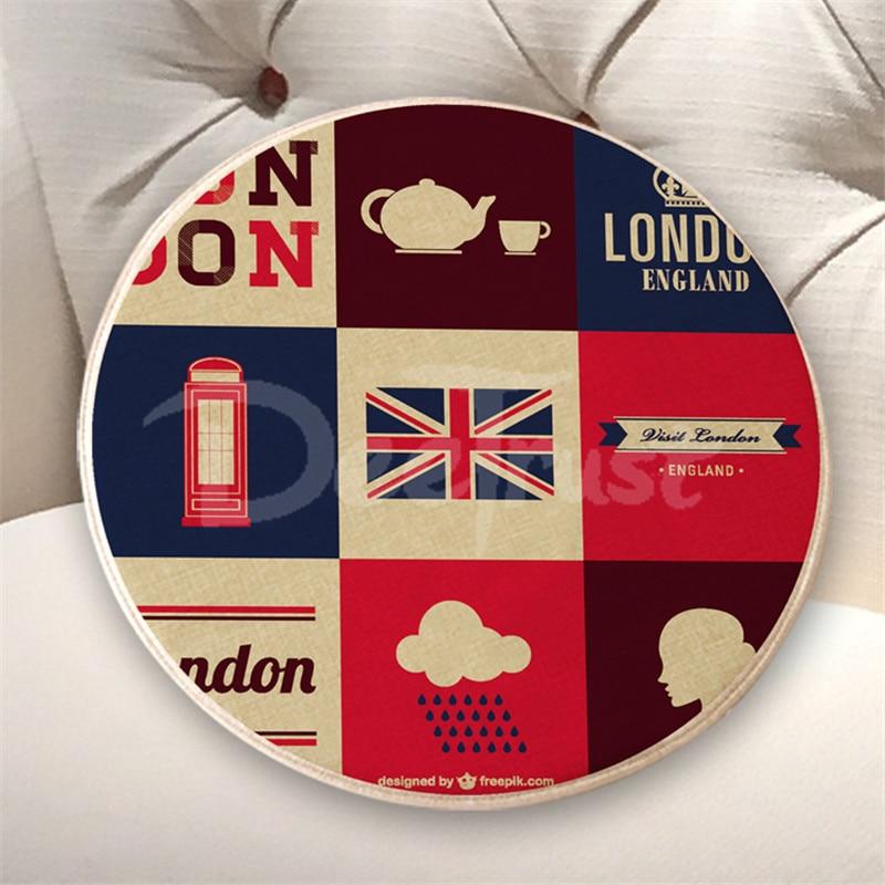 Europski pamuk posteljina jastuk London okrugli sjedala jastuk debeli - Tekstil za kućanstvo - Foto 5