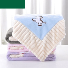 Baby Blankets Newborn Swaddling Wrapper Super Soft Infant Bebe Girls Flannel Blanket Autumn Winter Thermal Toddler Bedding Linen