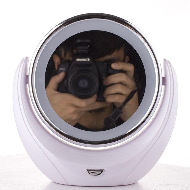 Maquillajes Belleza Espejo de Escritorio de gama Alta Luces Led Se Puede Girar 360 Grados Espejo de Maquillaje Espejo de Doble Cara