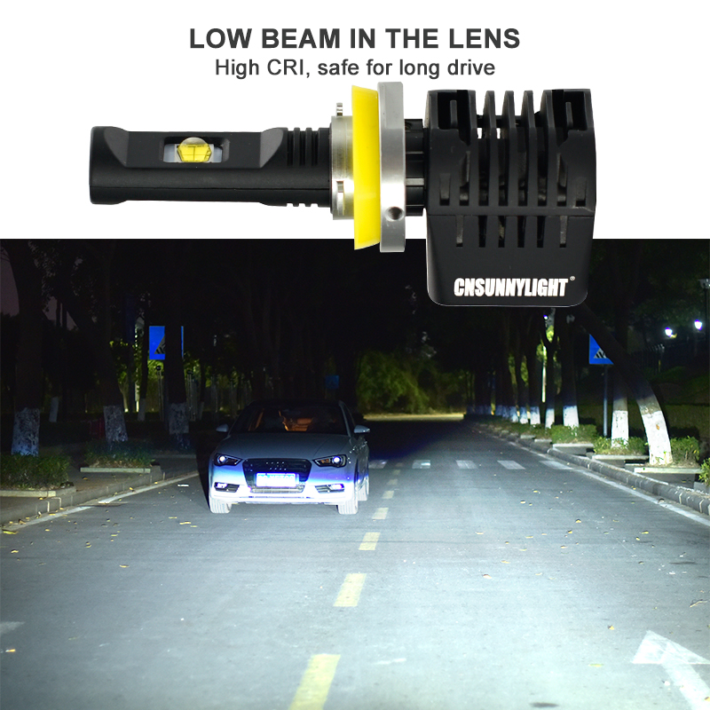 CNSUNNYLIGHT Canbus LED Headlight Car Bulbs H7 H11 9006 9005 H4 D1 wLUMILEDS MX70 Chips 14000Lm 5700K No Error Automotivo Light (4)