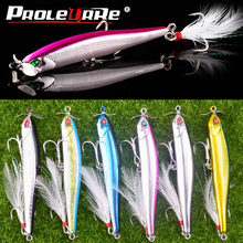 1Pcs Sinking Pencil Lure fishing bait with metal Rotating pr