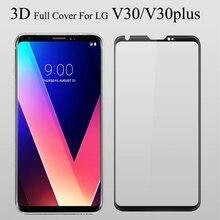V30 plus película protectora de pantalla de cristal 3D para LG V30, protector de pantalla de vidrio templado 3D, cubierta completa H930 H930DS
