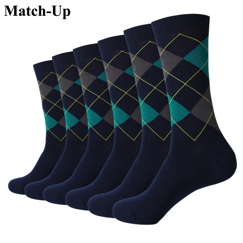 Match Up Socks New styles men Colorful Cotton socks Wedding socks Christmas Gift Socks 6Pairs US