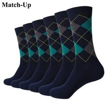 Матч-Носки для девочек новые стили мужчины Красочные Хлопок Носки Свадебные Носки Новогодние товары носки в подарок (6 пар) американский размер (7.5-12)