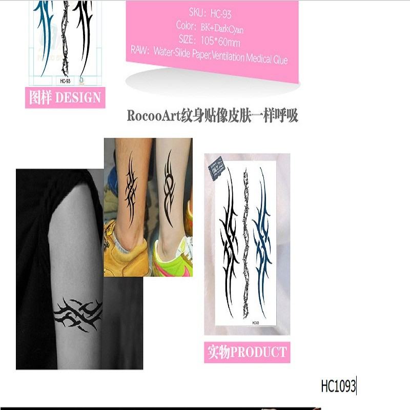b115ab222 2pcs/lots Waterproof tattoo of male and female small fresh wrist ...
