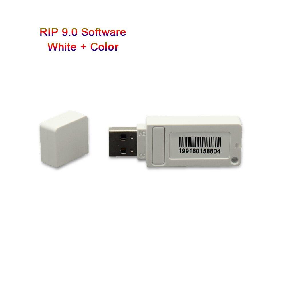 Novo software ver9.0 Acrorip AcroRIP Branco com chave de Bloqueio dongle para Epson Todos Os tipos de Modelos de impressora Jato de Tinta UV RIP software