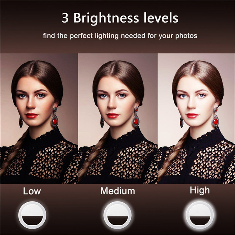 Image 3 - New Arrive USB Charge Selfie Portable Flash Led Camera Phone Photography Ring Light Enhancing Photography for iPhone Smartphone-in Photographic Lighting from Consumer Electronics