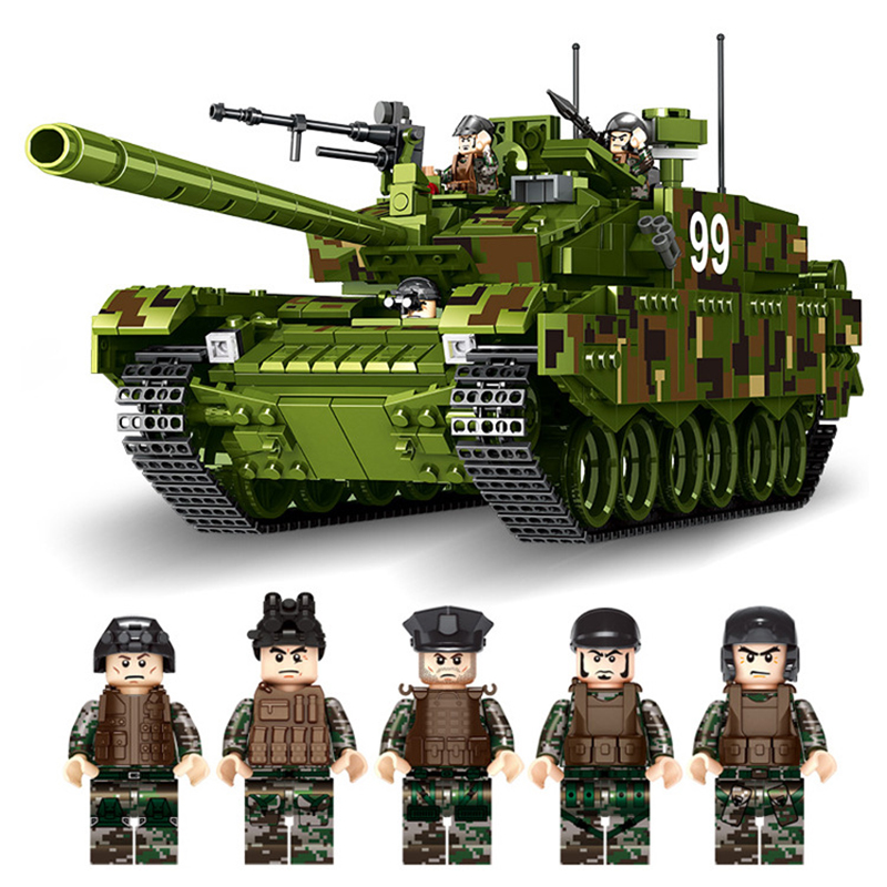 1339Pcs Type99 Military Main Battle Tank Model Kits Building Blocks Model Compatible Legoings Bricks Gifts Toys For Children
