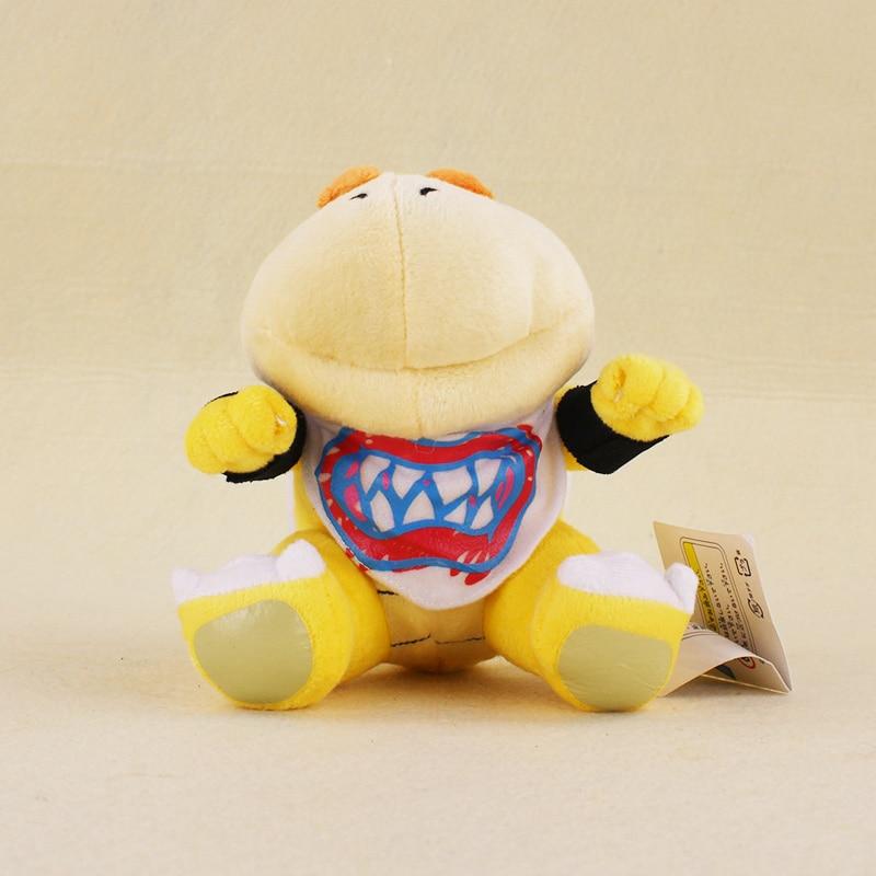 15cm Super Mario Bro Koopa Dragon Plush Dolls Koopa Bowser JR Stuffed Soft Plush Toys Kids Gifts