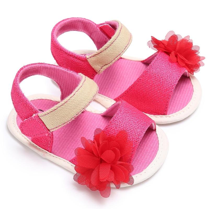 Naujos vasaros paplūdimio princesės stiliaus merginos vaikams saldainių spalva miela gėlė ant slydimo atsitiktinis kūdikių bateliai sandalas