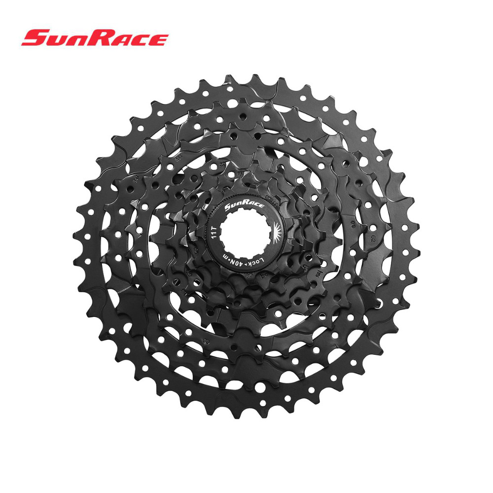 Sunrace 8 Speed MTB Cassette csm680 40T 11 - 40T Wide Ratio 8s Mountain Free Wheel Freewheel Black silver 475g image