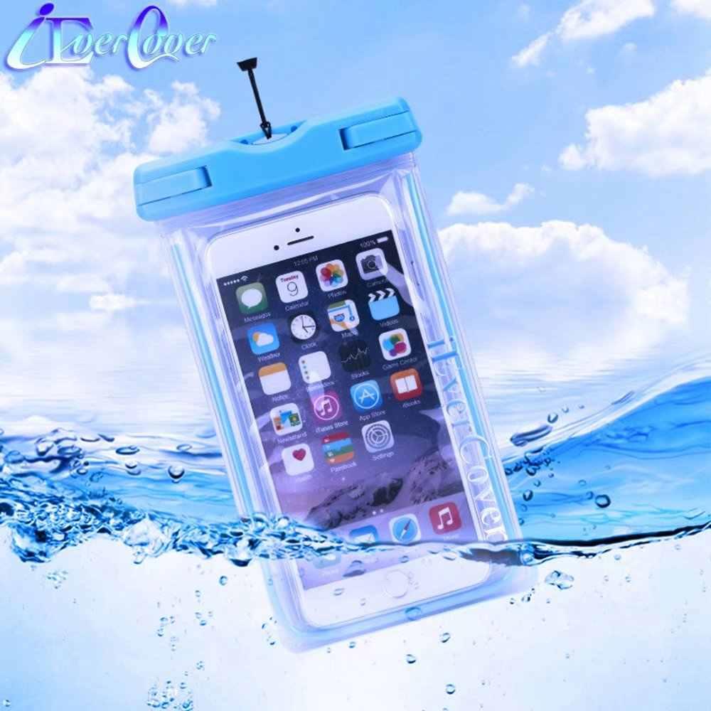 Su geçirmez aydınlık telefon kılıfı için Elephone P11 3D , A4 A5 A6 Mini , U / U Pro, p8 Max C1X S7 R9 C1 M3 M2 sualtı çanta