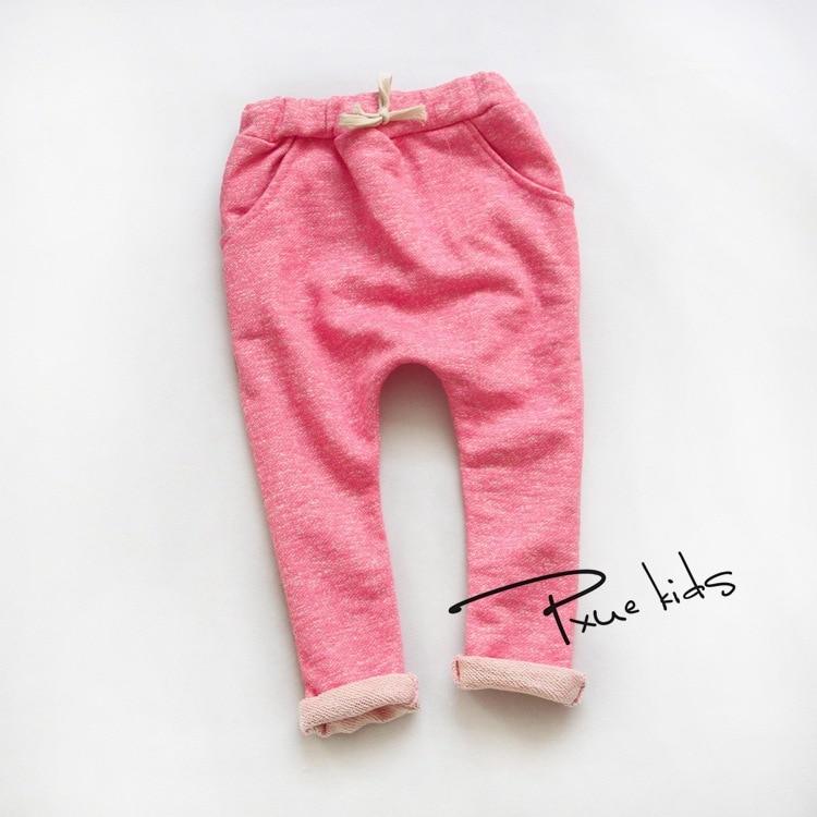 Cheap promotion fashion boy girl trousers kid cotton baby harem pants autumn Kids 2-7Y children's clothing meninas boys pants
