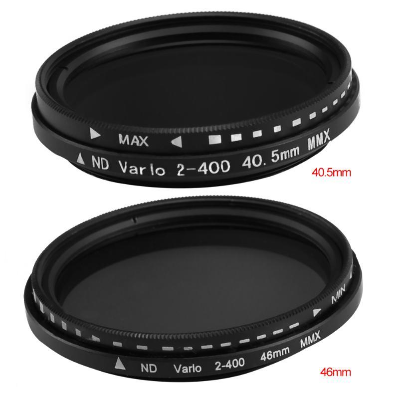 Diamètre 40.5mm 46mm ND Lentille Filtre Réglable Densité Neutre Variable ND2 à ND400 Slim Fader ND Lentille Filtre pour DSLR caméra