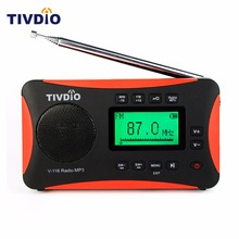 TIVDIO Portable Radio FM MW SW Multiband Radio Receiver MP3 Player with Sleep Timer Alarm Clock F9206A