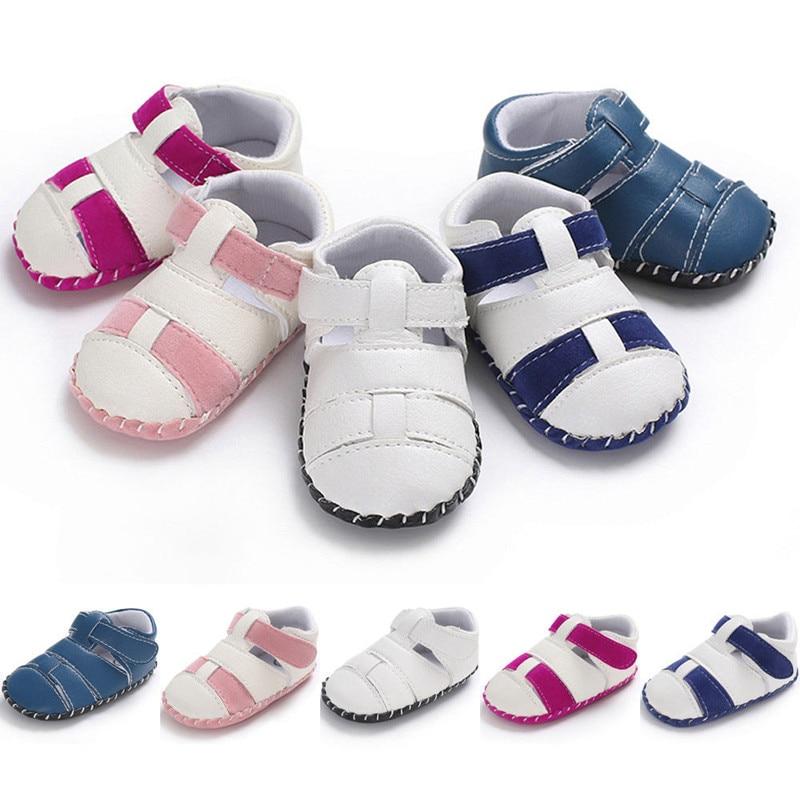 Summer Toddler Baby Boys Girls Shoes Newborn Soft Soled Princess Crib Shoes Prewalker 0-18M