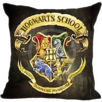 LUQI Custom Harry Potter Hogwarts School Sign Cushion Pillowcase Covers 18 X18 One Side