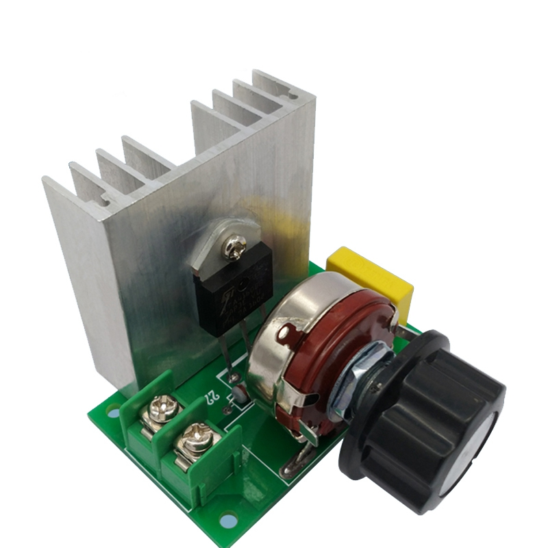 Voltage Regulator Controller AC 220V 4000W High Power Dimming Thermostat Switch Governor Electronic Dimming Dimmers Speed ac 50 250v 2000w motor speed controller adjustable electronic voltage regulator thermostat dimming dimmers regulator module