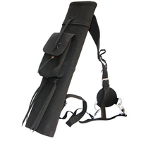 Suede Leather Arrow Quiver Bag Black Archery Shooting Hunting Outdoor Sports Practice For Bow Arrows Holder