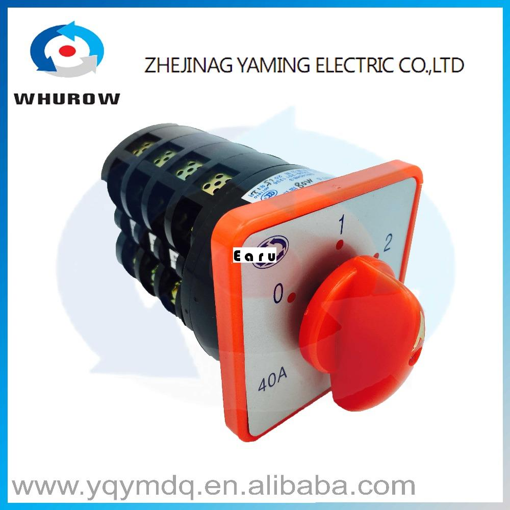цена на HZ5-40/7.5 M08 automatic electrical changeover rotary cam combination switch four poles 40A 7.5kw 380V sliver point contacts CCC