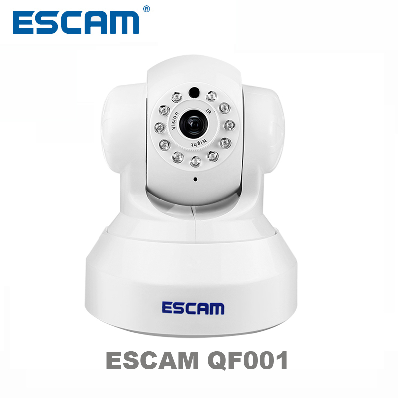 Escam QF001 HD 720P 1MP Mini Dome Camera Indoor WIFI IP CCTV Smart Camera Infrared Pan/Tilt Two Way audio P2P Support 32GB Card home security 720p hd mini p2p ip camera 1mp wireless wifi pan tilt two way audio video camera onvif night vision cctv system