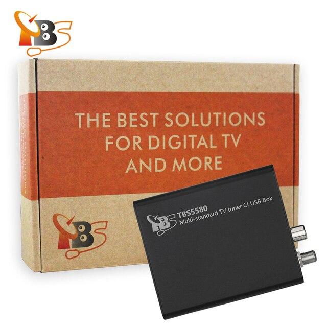 TBS5580 multi-standard universel TV numérique Tuner CI boîte USB pour DVB-S2X/S2/S/T2/T/C2/C/ISDB-T FTA chiffré TV payante sur PC