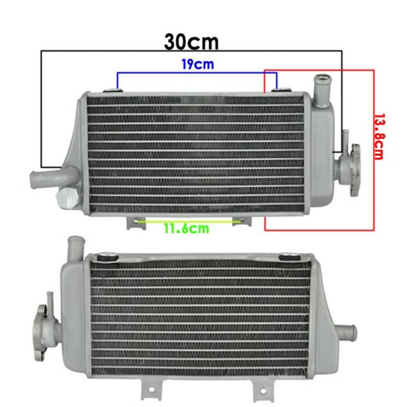 Motorcycle Aluminium Cooling Radiator Left Righ for Honda LD450 CRF450R 2005 2006 2007 2008 CRF450 R 05 06 07 08 CRF 450R ld450 lx250