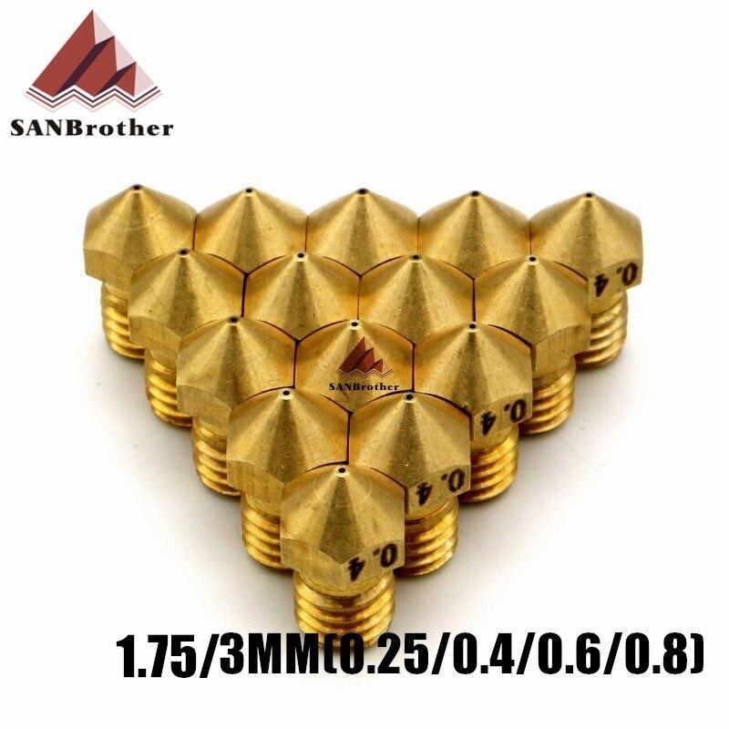 3D Printer Ultimaker 2+ UM2+ Extended Olsson Block 1.75/3MM Nozzles 0.25 0.4 0.6 0.8 Filament System Nozzles High Quality.