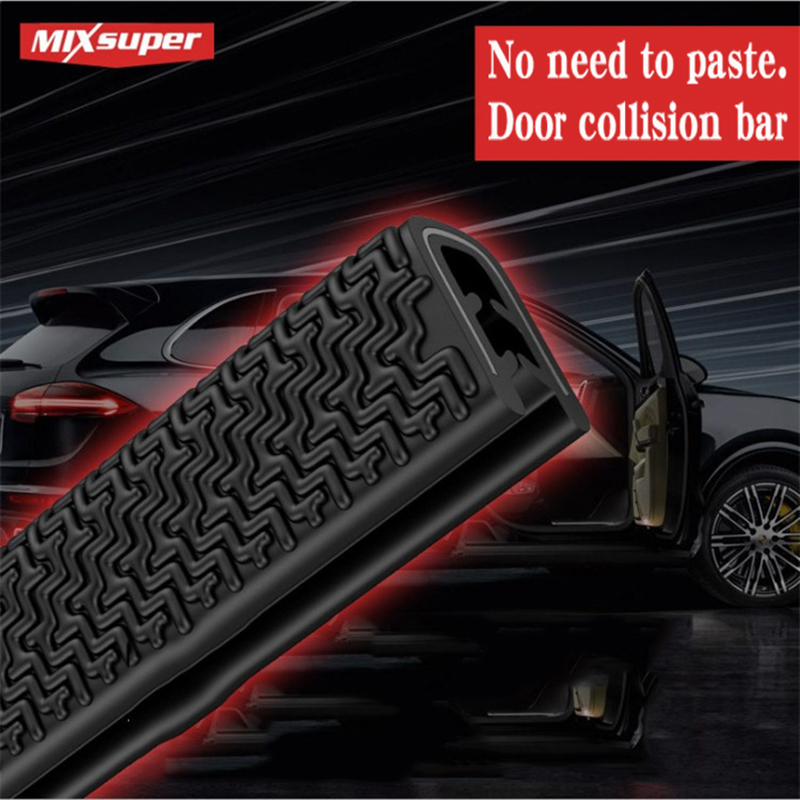 5Meter U Type Door Seal Car Sound Insulation Car Door Sealing Strip Rubber Weatherstrip Edge Trim Noise Insulation Anti-collisio
