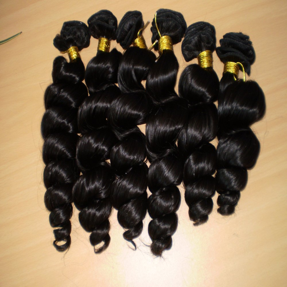 8inch-30inch Virgin Brazilian and Peruvian Hair, Soft Spring Wave, Natural Color